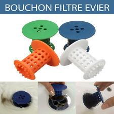 Bouchon silicone filtre évier salle de bain baignoire  Evite de boucher lavabo