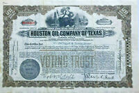 Houston Oil Company of Texas > 1930s stock certificate brown share