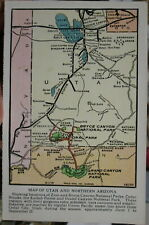 c1920s Map of Utah and northern Arizona Union Pacific RR postcard view