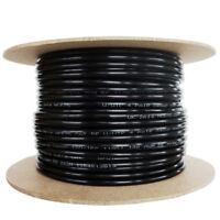 Cat5e Solid PE External Cable Black 50m Reel 100% Copper CCTV POE Ethernet