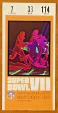 Super Bowl VII Ticket Miami Dolphins Win 1973