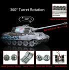US Stock 1/16 6.0 Henglong Customized King Tiger RC Tank 3888A W/ Metal Wheels