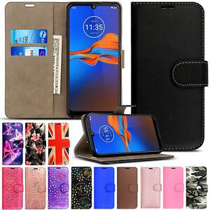 Case For Motorola Moto E6 G6 G8 G7 Play Power E5 PLUS Leather Wallet Flip Cover