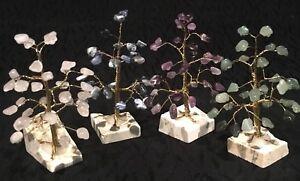 Crystal Gem Tree 30 Gems - Green Aventurine, Amethyst, Sodalite & Rose Quartz