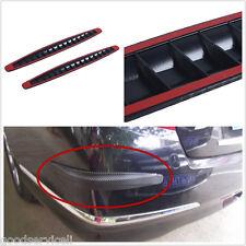 2 Car Carbon Fiber Texture Car Bumper ProtectorAnti-rub Edge Lip Anticollision