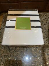 "NWT Kate Spade 72"" x 72"" HARBOUR STRIPE Shower Curtain - Black"