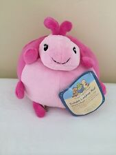 NWT Cloud B Twighlight Ladybug Pouf Pink Stuffed Animal Toy 7""