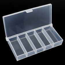 1X Fishing Lure Bait Hook Tackle 5 Grid Storage Box Case Container Clear Plastic