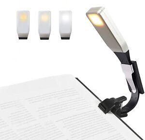 Lampada da Libro Ricaricabile Luce Lettura con Clip USB Portatile come Torcia