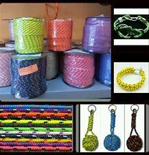 Driza corde tressée cordage 3mm x 100 mètres pour bracelets porte-clés