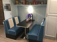 American Diner set with Authentic Aluminium ribbed table top Manufactured in UK