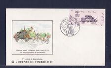 enveloppe 1er jour  journée du timbre  69  Lyon    de carnet bdf   1989