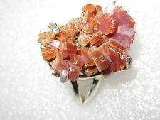 RARITÄT RING Vanadinit  Rohstein Kristall echt 925 Silber Gr18 22x16x13mm Stufe