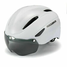 RockBros White Cycling Riding Sport Helmet with Magnetic Goggle Size 57-62cm