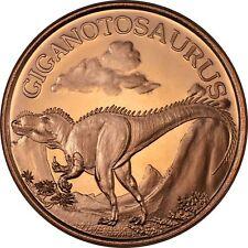 100 Ounces Of Copper 1 oz Each Dinosaur Giganotosaurus Bullion Rounds