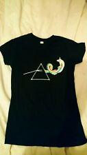 Geeky Dark side of the Moon Pink Floyd / Adventure time mash up T Shirt Ladies M