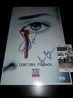 Framed Anna Paquin and Stephen Moyer Autograph Replica Print 8x10 Print
