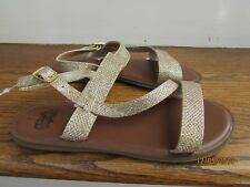 Faded Glory Girls/' Wave Strap Sandal Gold Glitter Various Sizes NWT