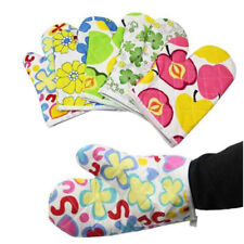 Cooking Cotton Kitchen Microwave Oven Glove Mitts Pot Pad Heat-Proof Protect USA