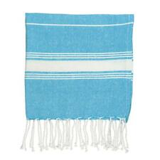 Childrens Towel 100% Turkish Cotton Beach Bath Pool Hammam Peshtemal Light Blue