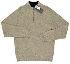 Men's PENDLETON Ecru Oatmeal Washable Wool Half Zip Sweater X-Large XL NWT NEW