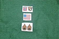 1/6 ww2 US 82nd 101st Airborne Insignia & Drapeau correctifs