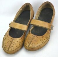 Clarks Everlay Bai Leather Mary Jane Shoes Womens Size 9.5 M Brown Hook Loop