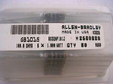 LOT (2) ALLEN BRADLEY CARBON COMP RESISTOR GB1015 1W  100 OHM NEW