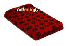 Tapis Confortbed Vetbed Dry Extra rouge petites pattes noires 26 mm 100x150 cm