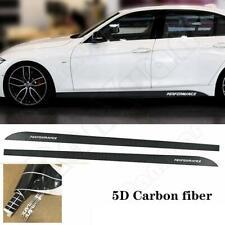 Carbon Fiber Side Skirt Door Sill Stripe Vinyl Deco Sticker for BMW 3 4 5 Series