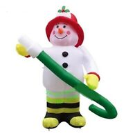 CHRISTMAS SANTA  FIRE FIGHTER SNOWMAN HOSE  INFLATABLE AIRBLOWN YARD DECOR  7 FT