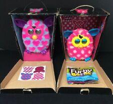 BUNDLE 2 Furby BOOM Polka Dots Pink Hearts Boxes Instructions AC