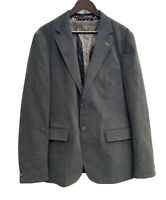 Ted Baker Womens Gray Green Blazer Size 5 Floral Lining Coat Jacket 100% Cotton