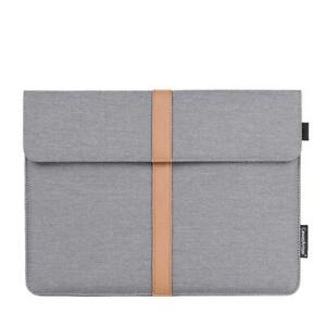 """13"""" 14"""" 15""""Waterproof Tablet Laptop Sleeve Bag Case Cover Pouch Universal Gray"""
