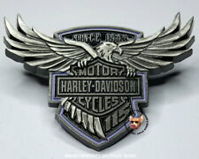 HARLEY-DAVIDSON 115TH ANNIVERSARY PIN SOARING EAGLE WITH BAR & SHIELD FREE POUCH