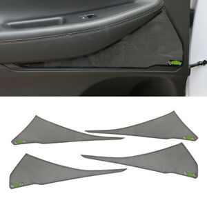 Black steel inner door speaker panel cover trim For 2019-2020 Hyundai Santa Fe