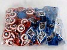 Marvel Captain America Shield Rings, 144 Bulk Pack Cupcake Toppers, Two Designs