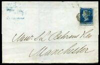 GB QV SG19 1854 2d Blue Plate 4 (RA) Cover SG cat £200.00