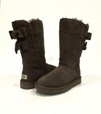 UGG ALLEGRA BOW II BOOTS CHOCOLATE BROWN SUEDE -US SIZE 8 -NEW
