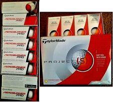 New 36 Taylormade White Golf Balls:24 AeroBurner Pro Long & 12 Project (s) -Free