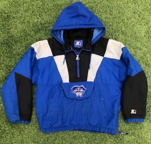 Rare VTG 90s Starter Seton Hall Pirates Puffy Hood Jacket Coat L/XL