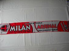 sciarpa ARSENAL - MILAN champions league 2012 football club calcio scarf