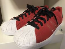 ADIDAS SUPERSTAR II/2 RED/BLACK/WHITE mens SUEDE SHELLTOES SHOES SZ 11 US