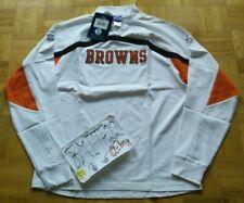 NWT Cleveland Browns NFL Reebok Phantom Mock Pullover Sweatshirt Men Small