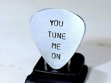You Tune Me On Guitar Pick in Aluminum