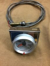 MW #3488 mechanical temperature gauge 130 to 280 degrees with chrome bracket