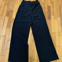 Black High Waisted Wide Leg Pants From F21, Sm.