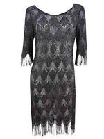 Jessica Simpson Women's Metallic Fringe Sheath Dress