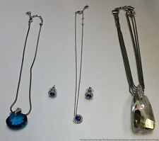 Swarovski Crystal Jewelry Lot Of 4 Necklaces Earrings