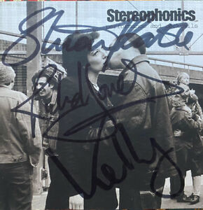 Stereophonics -Performance And Cocktails Signed Autographed Cd, Original Line Up